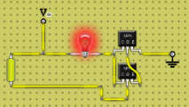 If circuit is built without resistor and fingertip bridges the gap the lamp will light. Water will also turn the circuit on, so it could be used to monitor any place that should stay dry. The lamp could be replaced by a sonalert for an audible alarm.