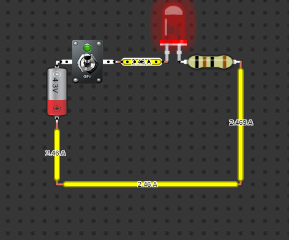 A Circuit with LED Light