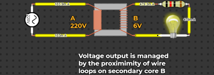 Inductor Step Down Votage 220v to 6v