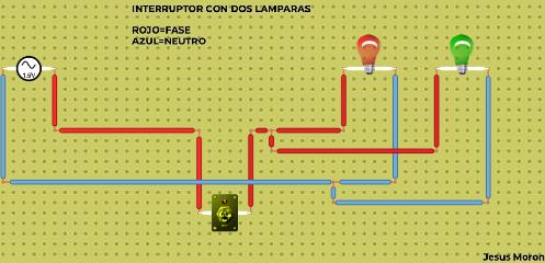 INTERRUPTOR CON DOS LAMPARAS