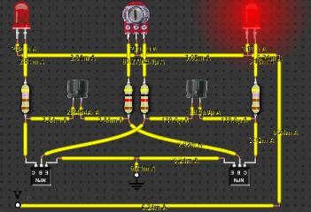 LEDs Blinking Using Transistors, Capacitors and Potentiometer